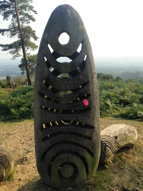 Wooden Flame on Leith Hill